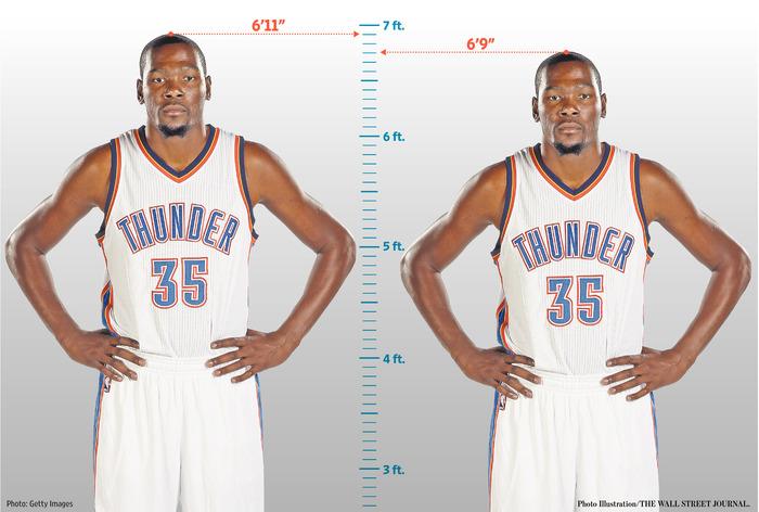 635dd89b9152 Kevin Durant Has a Loose Interpretation of His Height