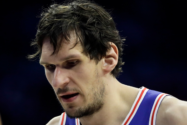 The Philadelphia 76ers front court has taken another hit. Serbian center Boban  Marjanovic suffered a right knee injury against the New Orleans Pelicans. 3eebf18ff