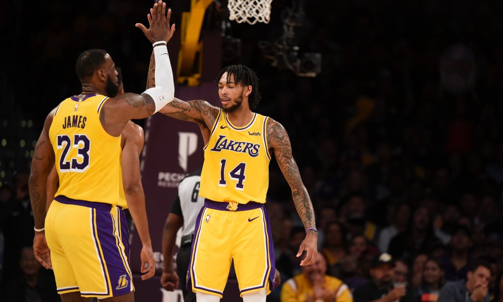 619c812e8 LeBron James is so excited to get Brandon Ingram back from his four-game  suspension that he compared him to Giannis Antetokounmpo and Kevin Durant.