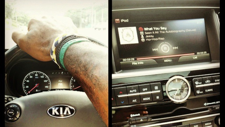 6be57b32a2ef Back in the fall we mentioned that Lebron James was going to be reppin  the  new 2015 Kia K900. Word got out when Lebron tweeted images of him behind  the ...