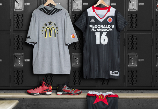 official photos 814f4 b48d0 adidas Releases Latest McDonald's All-American Game Gear